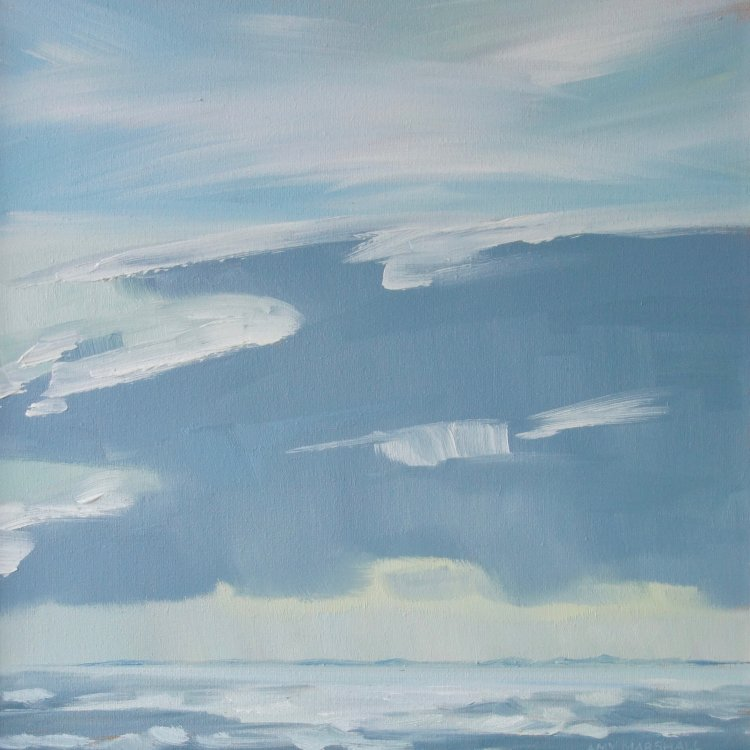 Big Cloud over Coll, 30x30cm, oi on canvas, £360