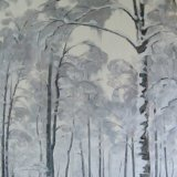 Birches in the Snow,  60x80cm, oil on canvas, £860