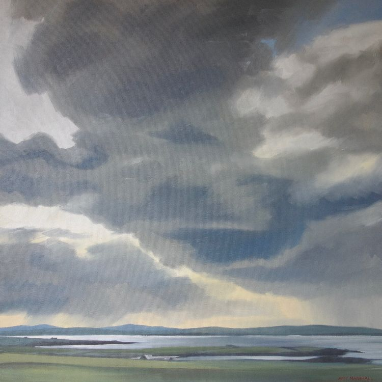 Clouds Gathering over Sanday, Orkney Islands, 75x75cm, oil on canvas, £860