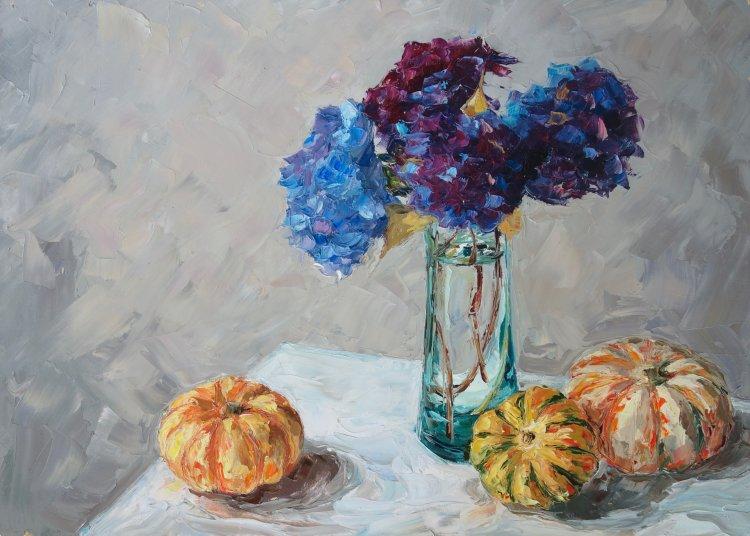 Late Summer Still Life, 50x70cm, oil on canvas, £865