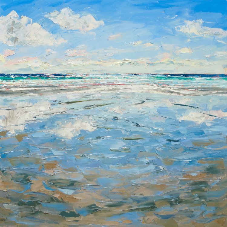 Fresh Day on Tiree 75x75cm, oil on canvas, £1395