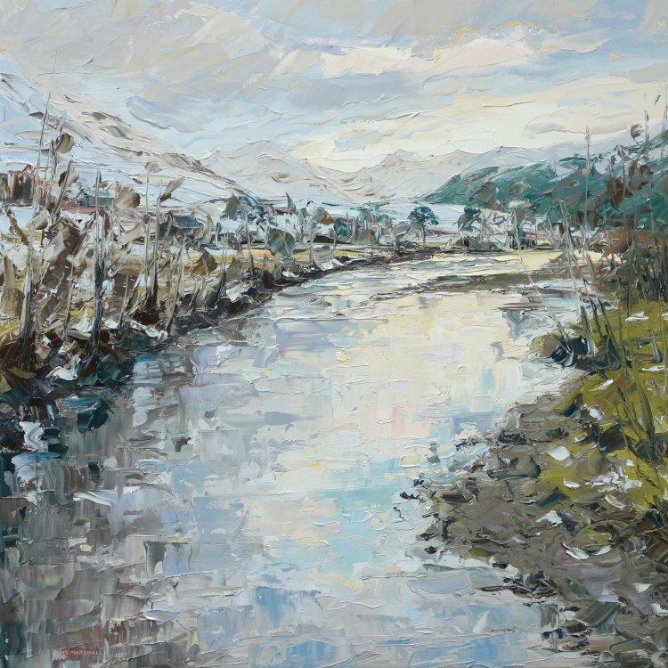 Glen Nevis, 60x60cm, oil on canvas, £865