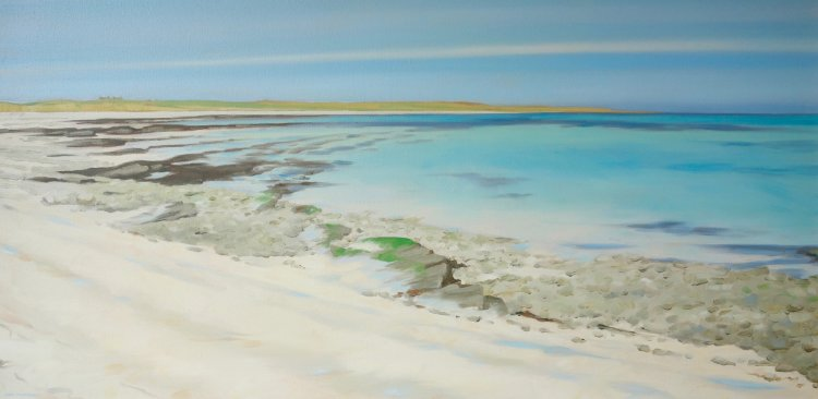 White Sands of North Wick, Papa Westray, 50x100cm, oil on canvas, £1250