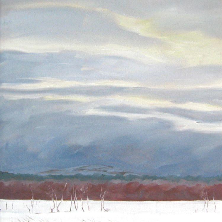 Edge of the Birchwood, 30x30cm, oil on canvas, £360
