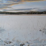 Edge of the Frozen Loch, 40x40cm, oil on canvas, £550