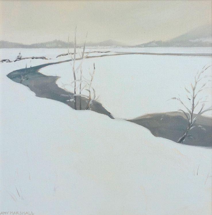 Glen Feshie in Winter, 30x30cm, oil on canvas, £360
