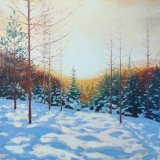 Golden Winter Light, 40x40cm, oil on canvas, £550