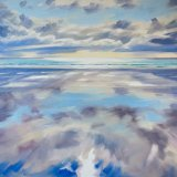 *New*  Tiree Reflections, 85x115cm, oil on canvas, £1950