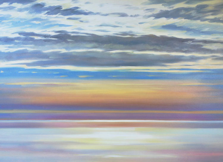 *New* West Coast Sunset, 85x115cm, oil on canvas (currently unframed £1850, framed £1950)