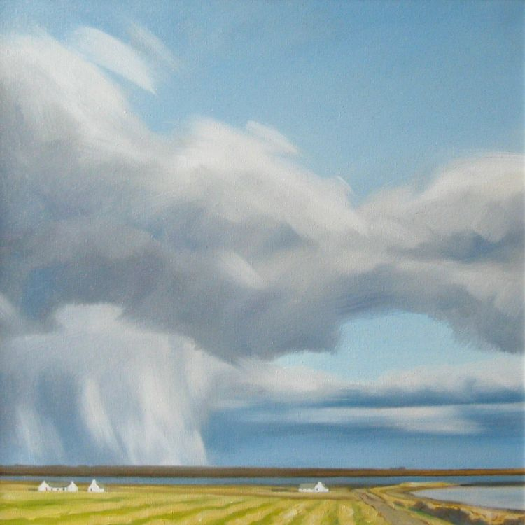 Ouse Paint and Little Sea, Orkney Islands, 40x40cm, oil on canvas, £550
