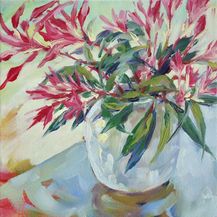 Pieris Japonica, 23x23cm, oil on canvas, (unframed) £310