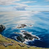 Rocky Shore, Shetland, 100x100cm, oil on canvas, £1750