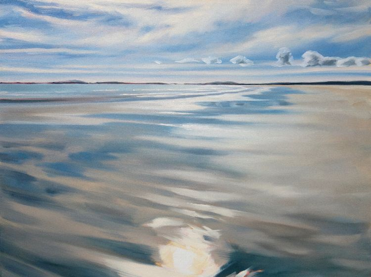 Silvery Day on Gott Bay, 75x100, oil on canvas, £1580