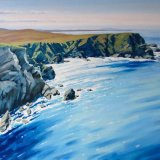 Sparkling Sea, Shetland Islands, 80x100,  oil on canvas, £1650