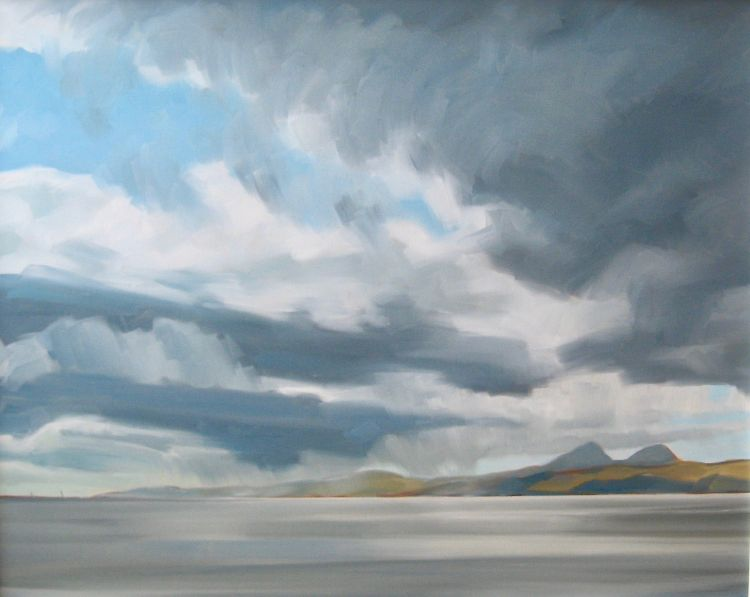 Squalls over Jura, 80x100cm, oil on canvas, £1650