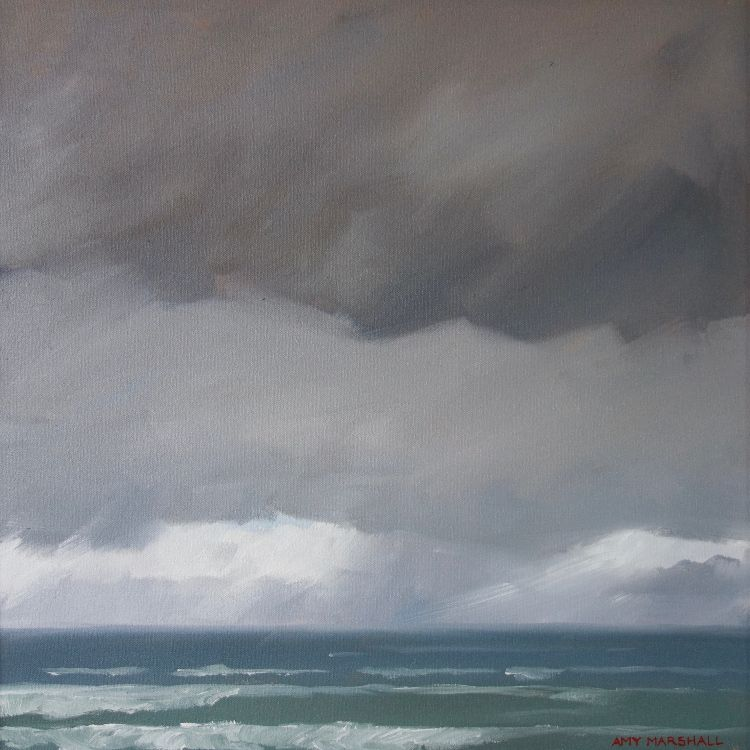 Stormy Sea, 40x40cm, oil on canvas, £550