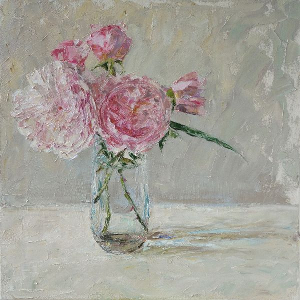 Study in Pink and Grey, 40x40cm, oil on canvas, £550