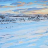 Sunset by the Hartree Hills, 30x42cm, oil on canvas, £440