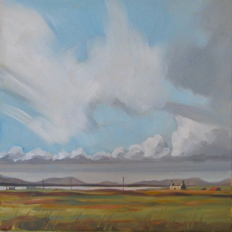 The Ruin, North Uist, 30x30cm, oil on canvas, £340