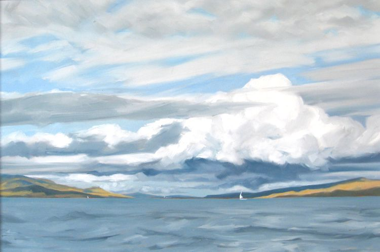 The Sound of Mull, 64x93cm, oil on canvas, £1250