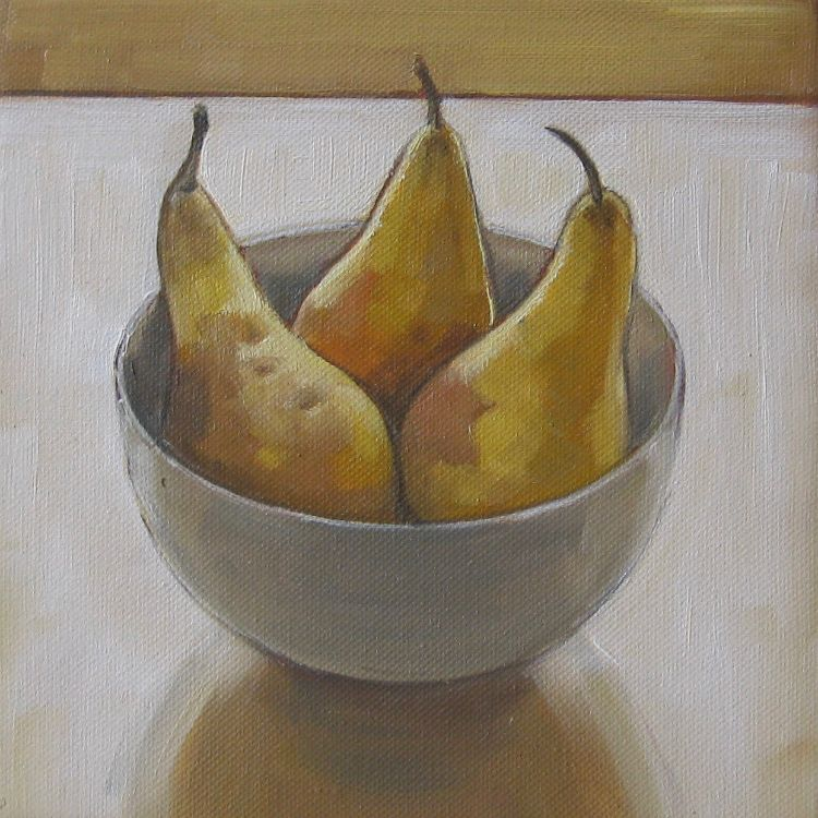 Three Pears, 20x20cm, oil on canvas, £295