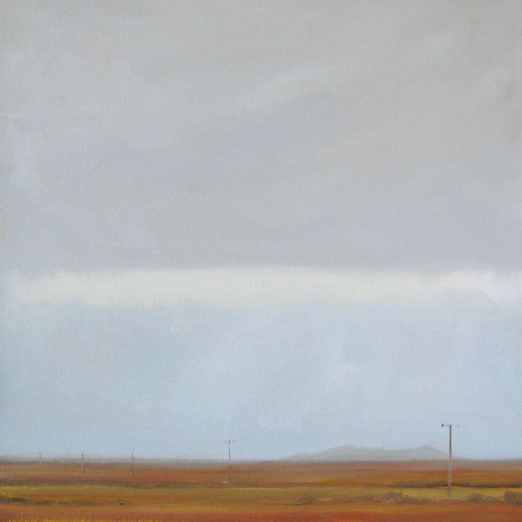 Towards Balephetrish, Tiree, 30x30cm, oil on canvas, £360