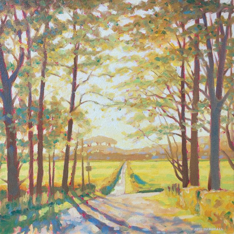 Track Through the Green Fields, 30x30cm, oil on canvas, £360