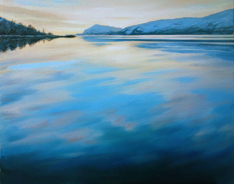Winter Light on Loch Linnhe, 60x76, oil on canvas, £860