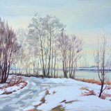 Winter by the River Lochy, 35x45cm, oil on board, £550