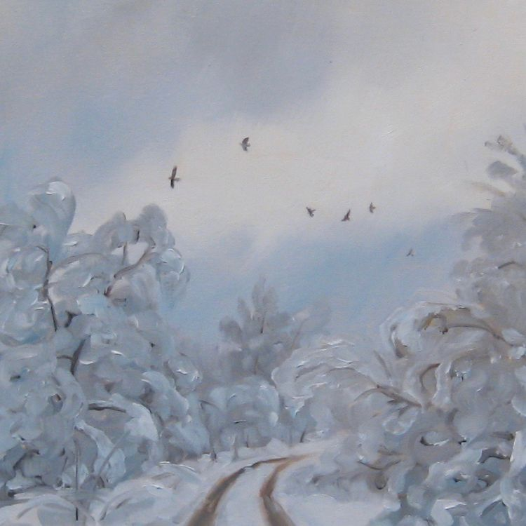 Winter in Glenfeshie, 30x30cm, oil on canvas, £340