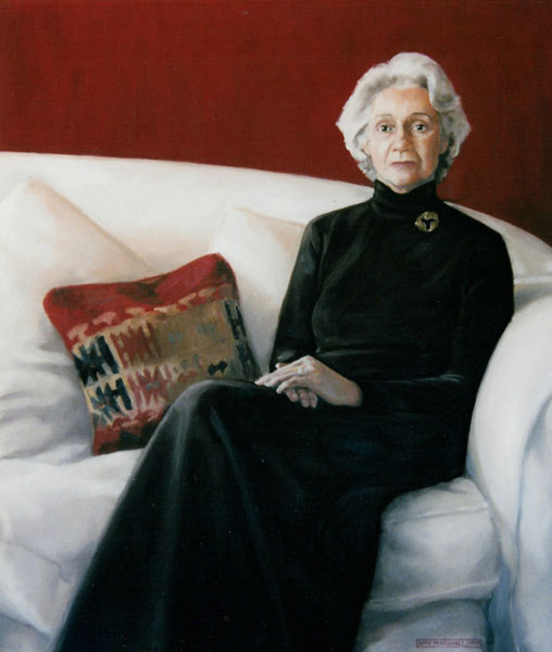 Portrait of Lady Kilpatrick of Kincraig (2000, oil on canvas, 100 x 120cm)