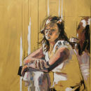 Dawn (2007, oil on canvas, 90 x 90cm)