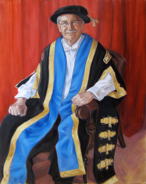 Portrait of Lord Gus Macdonald (2012, oil on canvas, 100 x 127cm)