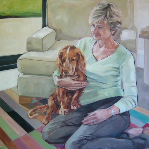 Jane (2010, oil on canvas, 90 x 90cm)