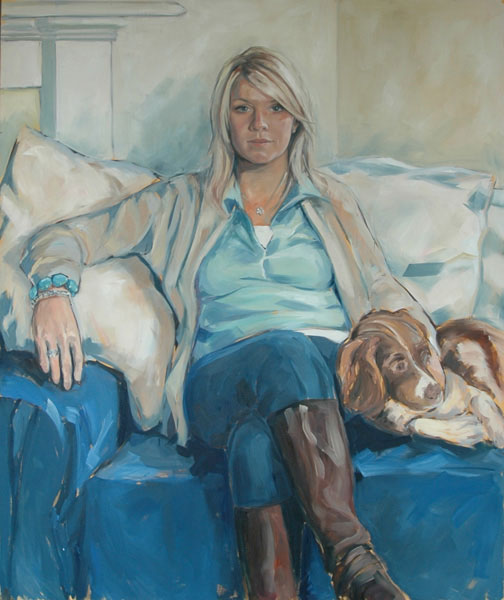 Portrait of Jo (2008, oil on canvas, 100 x 120cm)