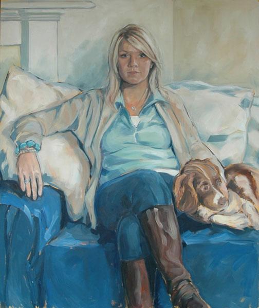 Portrait of Jo (2008, oil on canvas, 100 x 120cm)