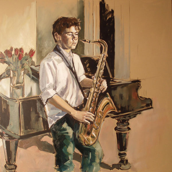 Portrait of Julian (2007, oil on canvas, 100 x 100cm)