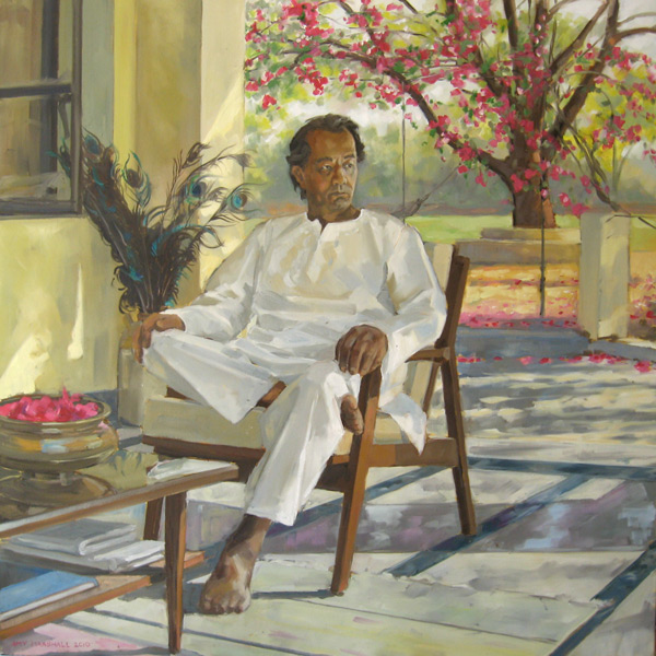 Kish in India (2010, oil on canvas, 100 x 100cm)