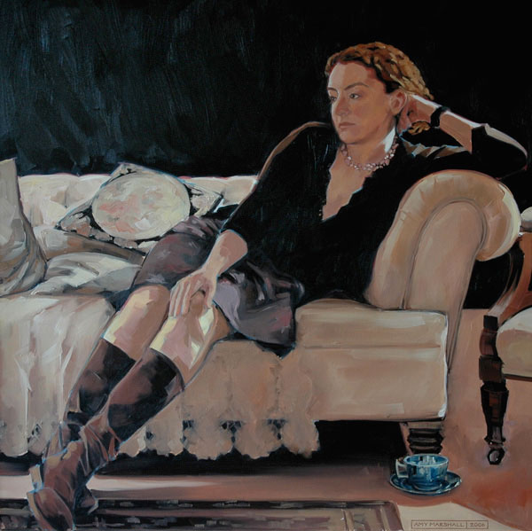 Portrait of Louisa (2006, oil on canvas, 90 x 90cm)