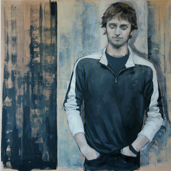 Mike (2006, oil on canvas, 90 x 90cm)