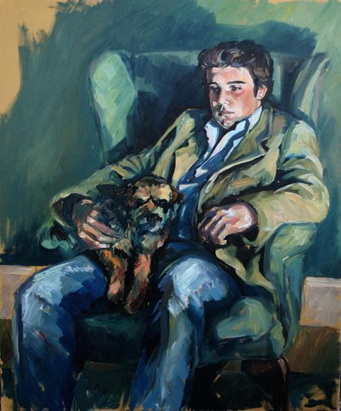 Portrait of Richard (2007, oil on canvas, 100 x 120cm)