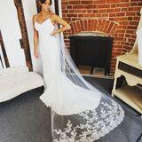 Lace Chapel length veil