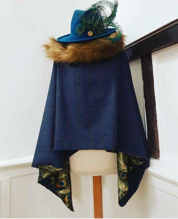 Luxury tweed cape