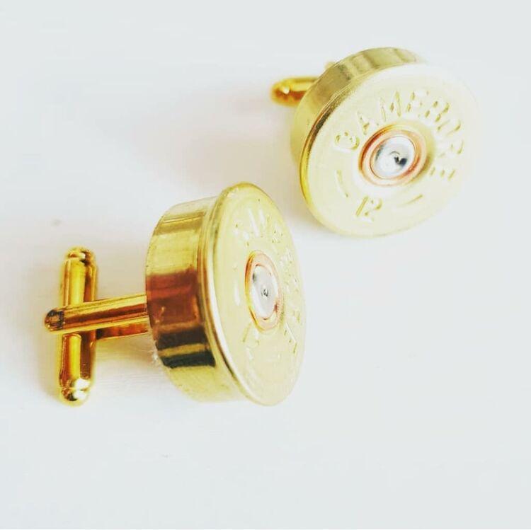 12 bore shotgun cartridge cufflinks