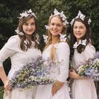 Bridal and bridesmaids pieces