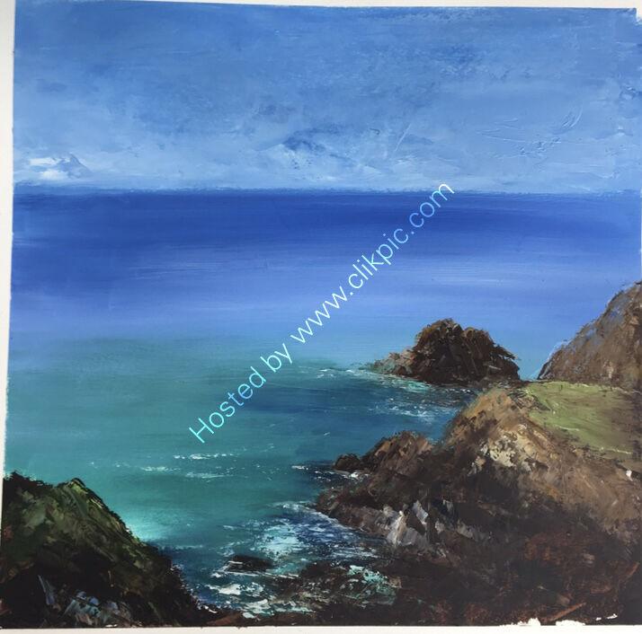 Seascape Cornwall Oil