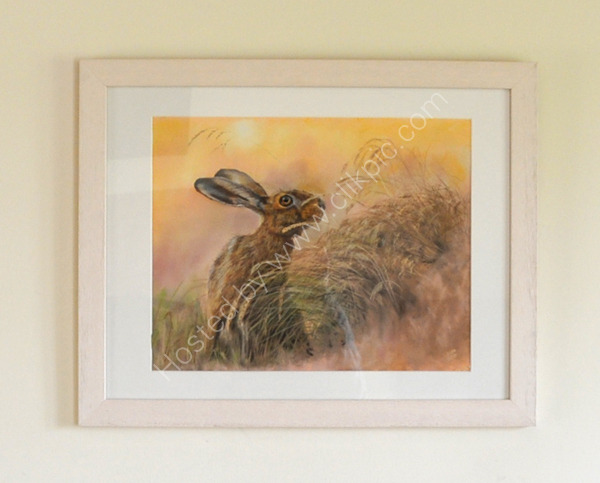"""On Alert"" Pastel painting from an original photograph by Jon Evans with his kind permission"
