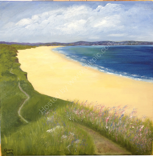 Cornish landscape in acrylic
