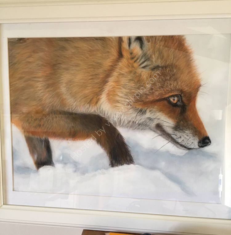 Pastel Fox in the Snow