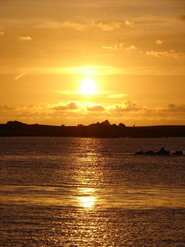 Sunset over Annet
